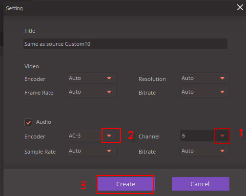 Set Audio Channel
